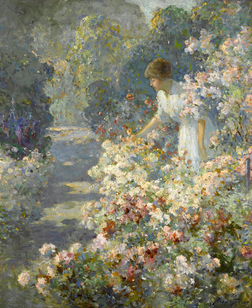 Art Prints of Morning in the Garden by Abbott Fuller Graves