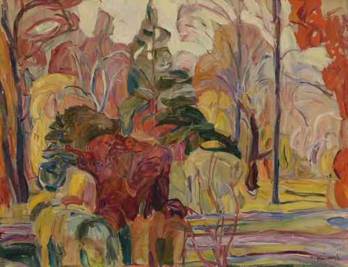 Art Prints of Fall Scene by Abraham Manievich