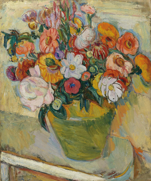 Art Prints of Flowers on a White Table 1933 by Abraham Manievich