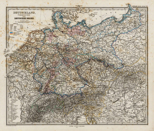 Art Prints of Overview of Germany and of the German Reich (2449017) by Adolf Stieler