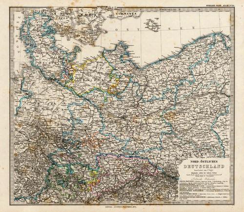 Art Prints of Northwestern Germany, 1875 (2449020) by Adolf Stieler