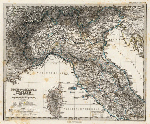 Art Prints of Upper and Middle Italy, 1875 (2449032) by Adolf Stieler