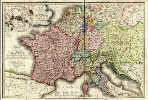 Art Prints of France, 1816 (4614014) by Adrien Hubert Brue