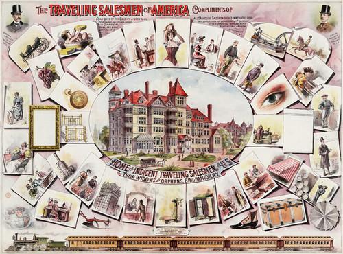 Art Prints of The Traveling Salesman of America, 1895