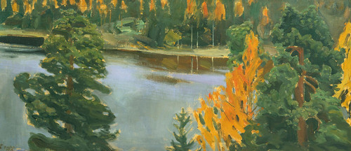 Art Prints of Lake View in Autumn by Akseli Gallen-Kallela