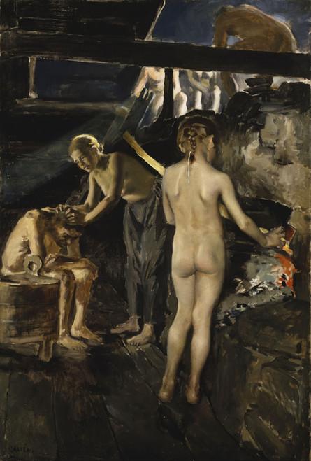 Art Prints of In the Sauna by Akseli Gallen-Kallela