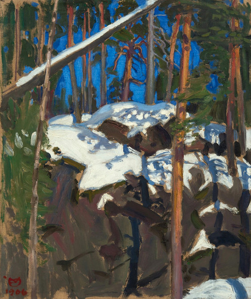 Art Prints of Spring Sun at Konginkangas by Akseli Gallen-Kallela