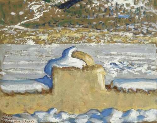 Art Prints of Taos New Mexico Under Snow by Akseli Gallen-Kallela