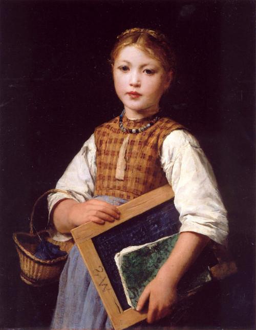 Art Prints of Schoolgirl by Albert Anker
