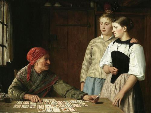 Art Prints of Fortune Teller, 1880 by Albert Anker
