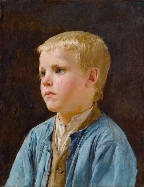 Art Prints of Portrait of a Blue Eyed Boy by Albert Anker