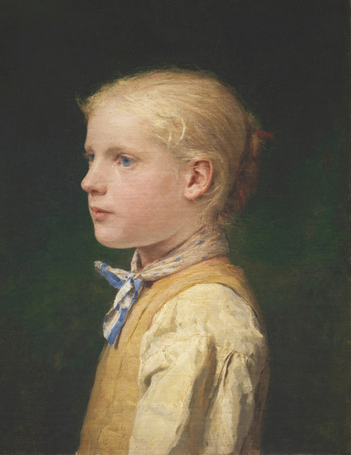Art Prints of Portrait of a Blue Eyed Girl by Albert Anker