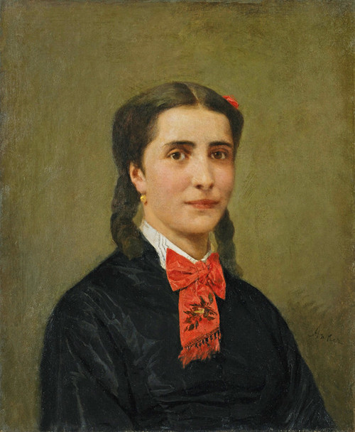 Art Prints of Portrait of Pauline Imer Fevoz by Albert Anker