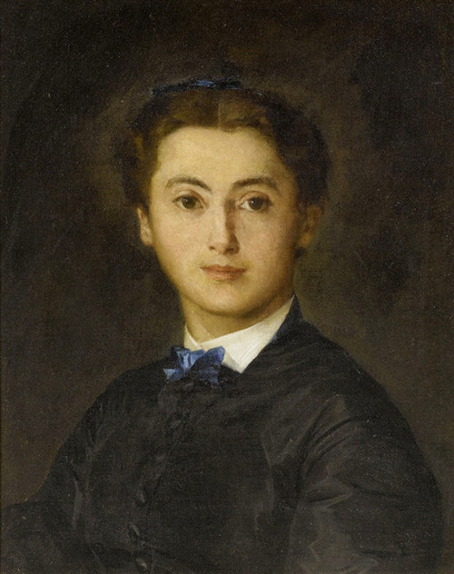 Art Prints of Portrait of Therese Wyttenbach Fischer, 1869 by Albert Anker