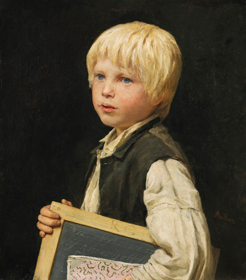 Art Prints of Schoolboy by Albert Anker