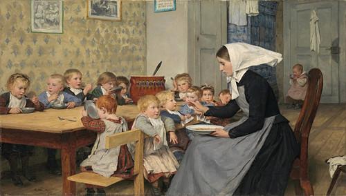 Art Prints of The Kindergarten by Albert Anker
