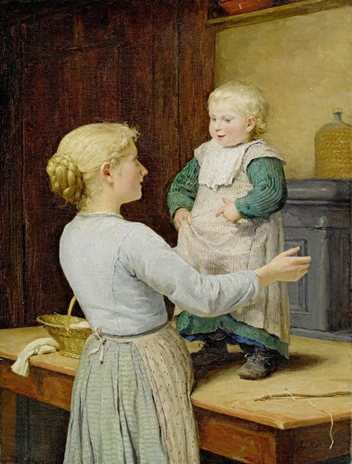 Art Prints of The Older Sister, 1889 by Albert Anker