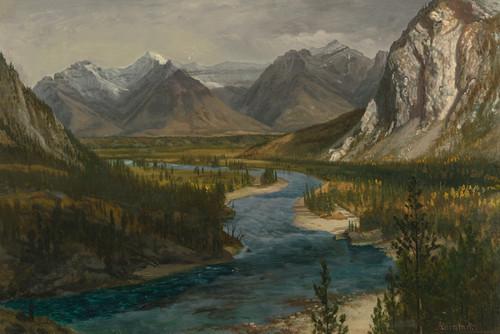 Art Prints of Bow River Falls, Canadian Rockies by Albert Bierstadt