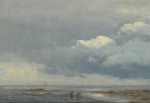 Art Prints of Cloud Study with Two Figures by Albert Bierstadt