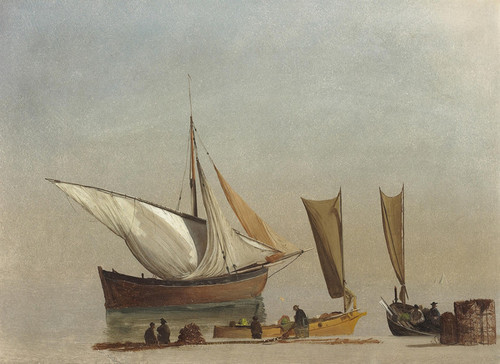 Art Prints of Fishing Boats by Albert Bierstadt
