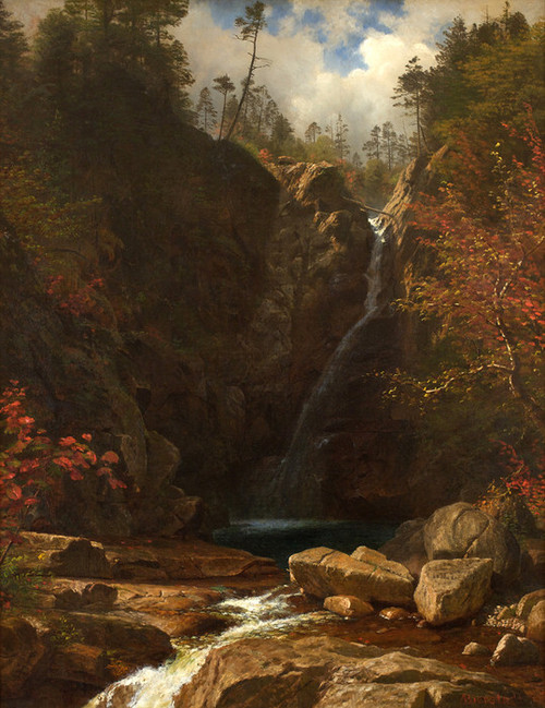 Art Prints of Glen Ellis Falls by Albert Bierstadt