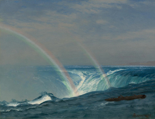 Art Prints of Home of the Rainbow Horseshoe Falls, Niagara by Albert Bierstadt