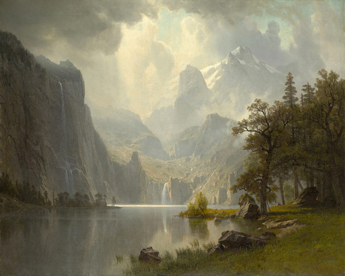 Art Prints of In the Mountains by Albert Bierstadt