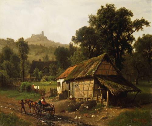 Art Prints of In the Foothills by Albert Bierstadt