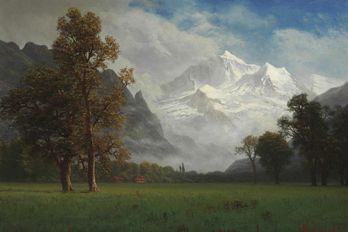 Art Prints of Jungfrau by Albert Bierstadt