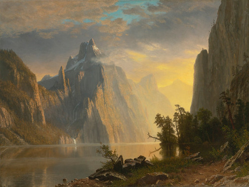 Art Prints of Lake in the Sierra Nevada by Albert Bierstadt