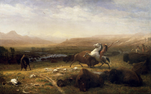 Art Prints of Last of the Buffalo by Albert Bierstadt