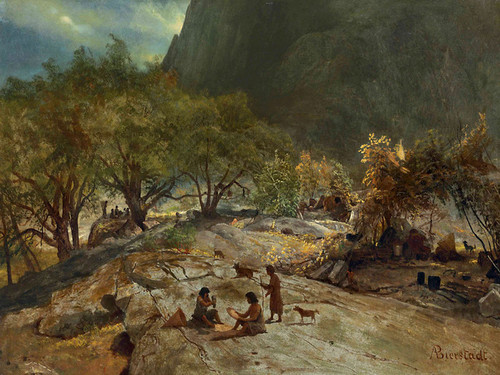 Art Prints of Mariposa Indian Encampment by Albert Bierstadt