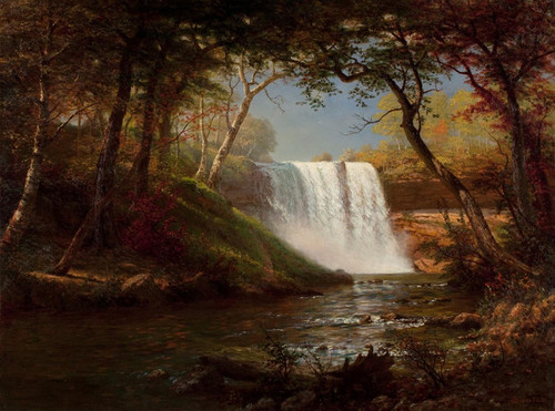 Art Prints of Minnehaha Falls by Albert Bierstadt