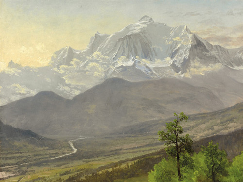 Art Prints of Mont Blanc or White Mountain by Albert Bierstadt