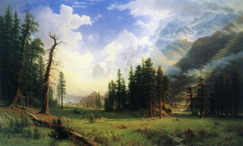 Art Prints of Mountain Landscape, 1895 by Albert Bierstadt