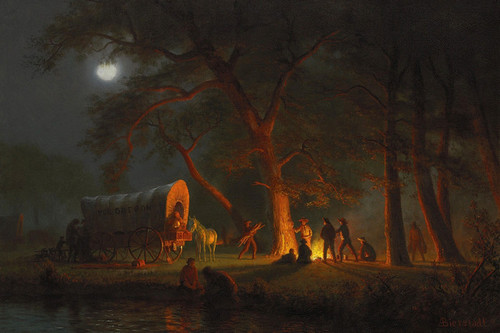 Art Prints of Oregon Trail by Albert Bierstadt