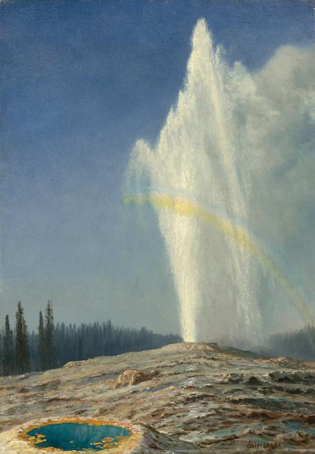 Art Prints of Old Faithful by Albert Bierstadt