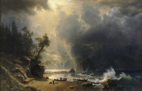 Art Prints of Puget Sound of the Pacific Coast by Albert Bierstadt