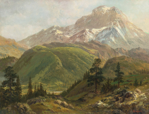 Art Prints of Source of the Snake River by Albert Bierstadt