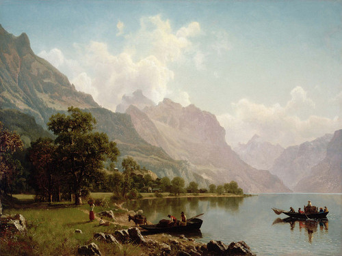 Art Prints of Swiss Mountain Scene by Albert Bierstadt