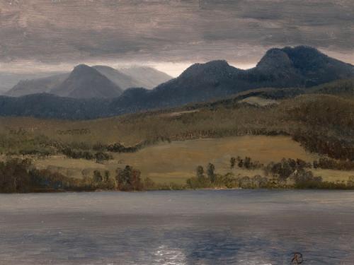 Art Prints of Sundown on the Lake, possibly Lake Tahoe by Albert Bierstadt