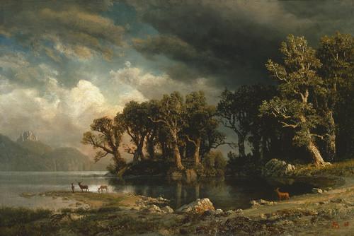Art Prints of The Coming Storm by Albert Bierstadt