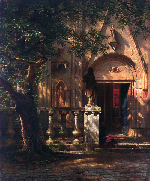 Art Prints of Sunlight and Shadow by Albert Bierstadt