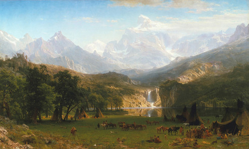 Art Prints of The Rocky Mountains by Albert Bierstadt