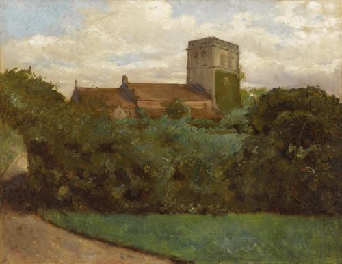 Art Prints of Tottenham Church, London by Albert Bierstadt