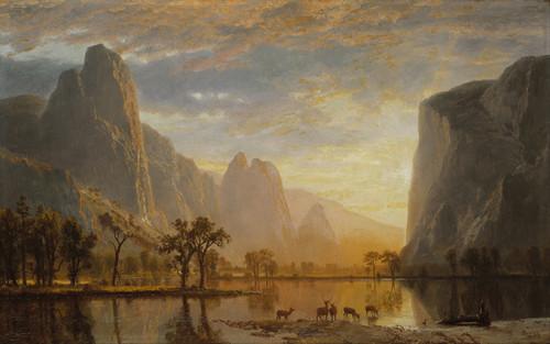 Art Prints of Valley of the Yosemite by Albert Bierstadt