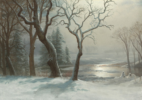 Art Prints of Winter in Yosemite by Albert Bierstadt