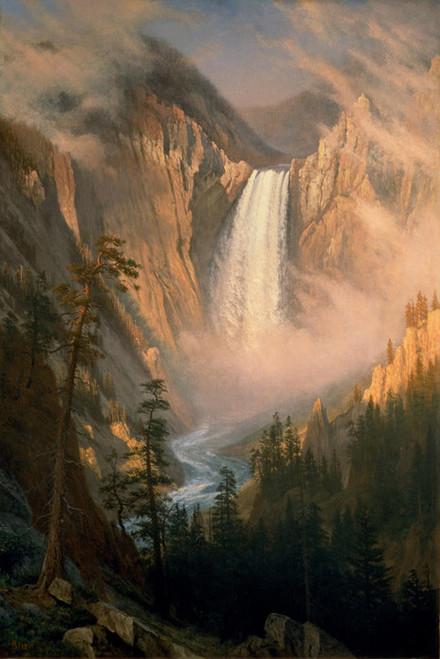 Art Prints of Yellowstone Falls by Albert Bierstadt