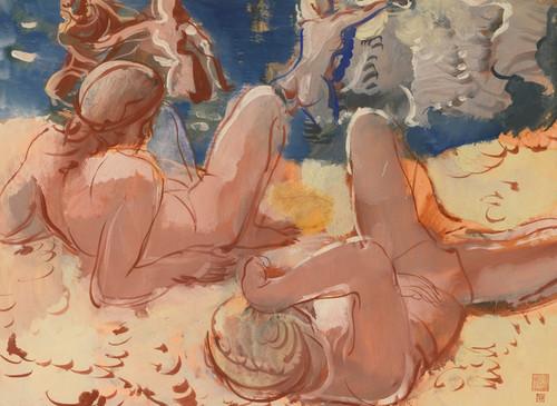 Art Prints of Figures on the Beach by Alexander Evgenievich Yakovlev
