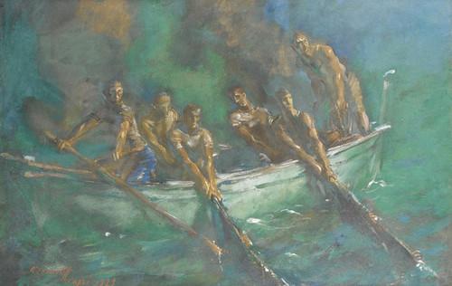 Art Prints of Fishing at Night by Alexander Evgenievich Yakovlev